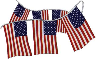 Be patriotic with U.S.A. FLAG Pennant Strings